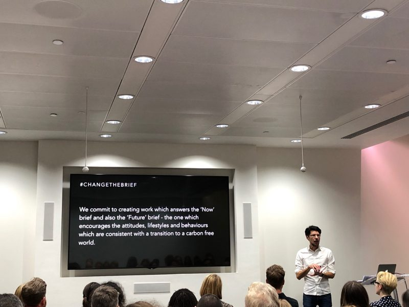 rob mcfaul of mindshare presenting at firefish's apg thinking around corners event 2019