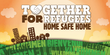 ben and jerry's branding showing their Together for Refugees campaign